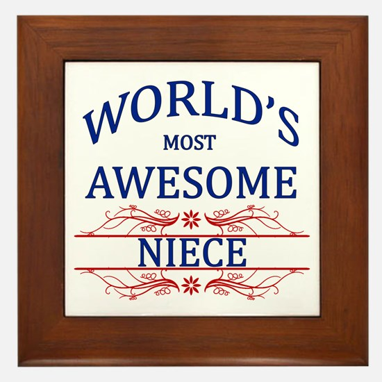World's Most Awesome Niece Framed Tile