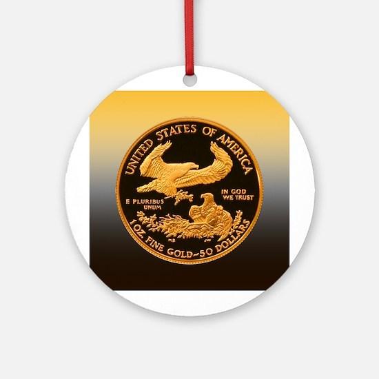 American Eagle Gold $50 Ornament (Round)