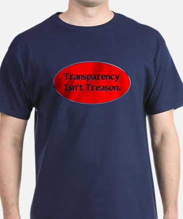 Oval upper Transparency T-Shirt