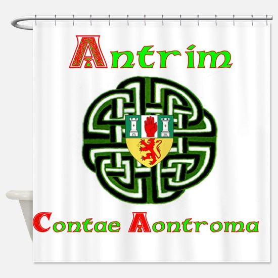Antrim,wheel,Arms.png Shower Curtain