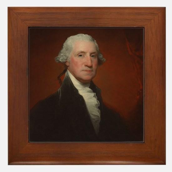 Gilbert Stuart - George Washington Framed Tile