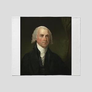 Gilbert Stuart - James Madison Throw Blanket