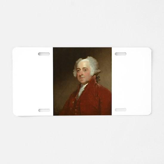 Gilbert Stuart - John Adams Aluminum License Plate