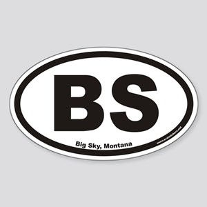 Big Sky Montana BS Euro Oval Sticker