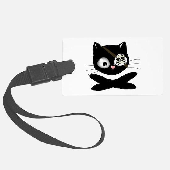 Pirate Kitty Luggage Tag