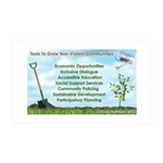 Tools to Grow Non-Violent Communities Decal Wall S