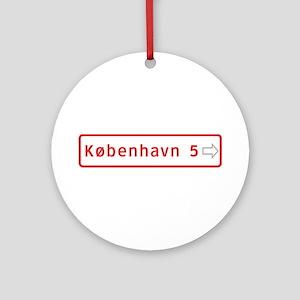 Roadmarker, Copenhagen - Denmark Ornament (Round)