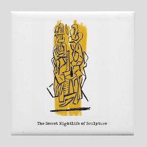 The Secret Nightlife of Sculpture Tile Coaster
