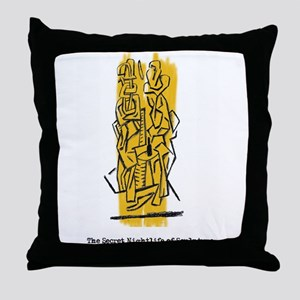 The Secret Nightlife of Sculpture Throw Pillow