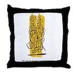 The Secret Nightlife of Sculpture Throw Pillow