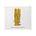The Secret Nightlife of Sculpture Throw Blanket