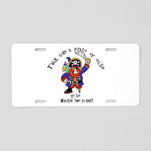 Peg Leg Pirate Aluminum License Plate