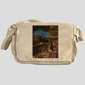 Giovanni Bellini - Saint Jerome Reading Messenger