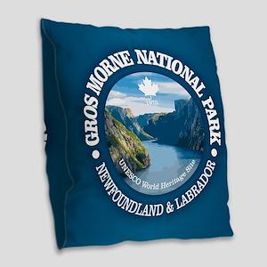 Gros Morne National Park Burlap Throw Pillow