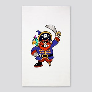 Peg Leg Pirate 3'x5' Area Rug