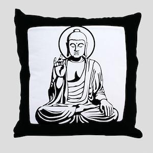 Young Buddha No.1_2c Throw Pillow