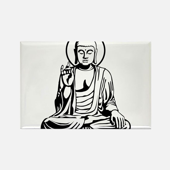 Young Buddha No.1_2c Rectangle Magnet
