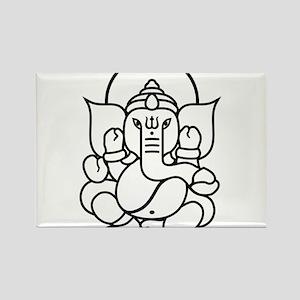 Ganesh Ganesa Ganapati 03_2c Rectangle Magnet