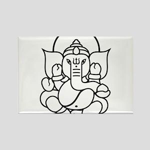 Ganesh Ganesa Ganapati 03.1_1c Rectangle Magnet