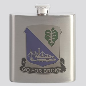 Army - DUI - 442nd Infantry Regt - No Text Flask