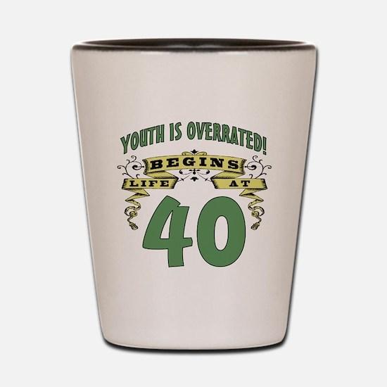 Life Begins At 40 Shot Glass