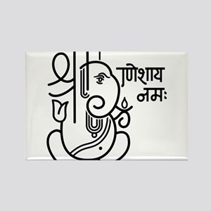 Ganesh Ganesa Ganapati 05_1c Rectangle Magnet