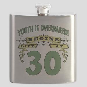 Life Begins At 30 Flask