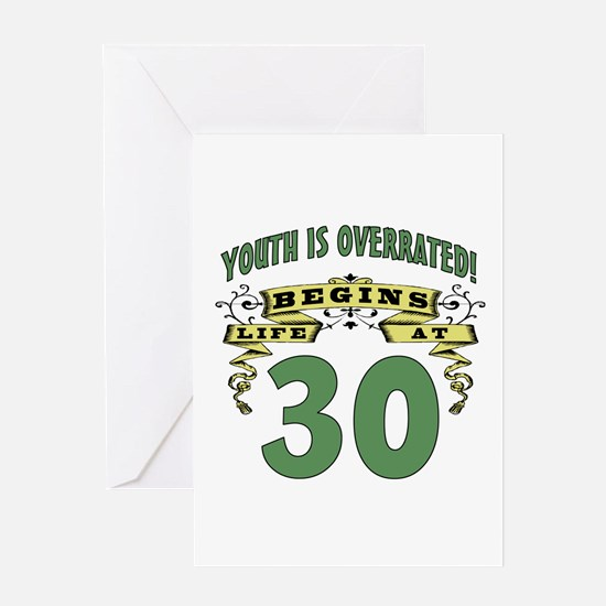 Life Begins At 30 Greeting Card