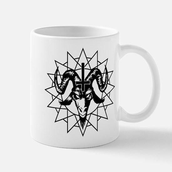 Satanic Goat Head with Chaos Star Mug