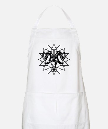 Satanic Goat Head with Chaos Star Apron