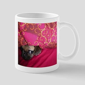 Sneaky Pug is Watching You Mug