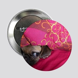 """Sneaky Pug is Watching You 2.25"""" Button"""