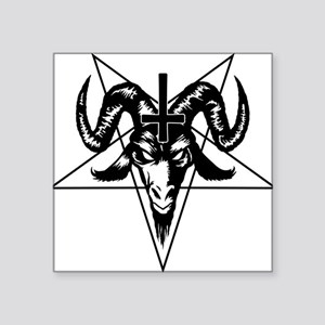 Satanic Goat Head with Pentagram Sticker