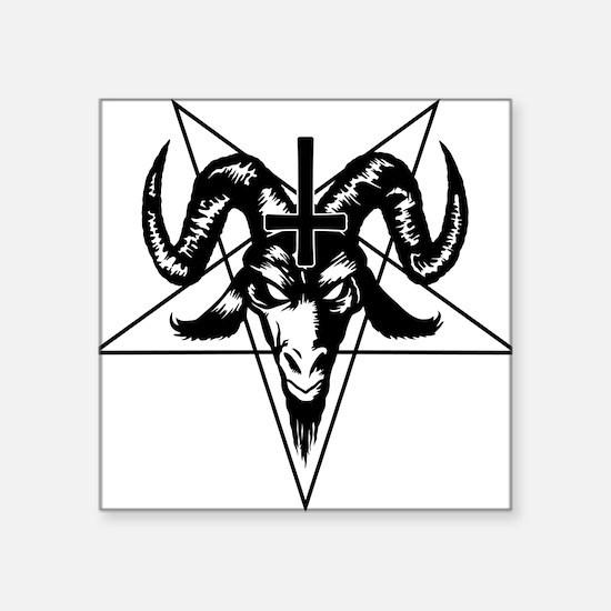Satanic Goat Head with Pentagram Sticker