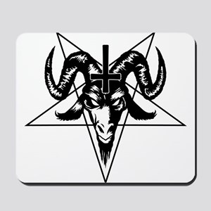 Satanic Goat Head with Pentagram Mousepad