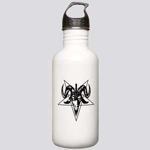 Satanic Goat Head with Pentagram Water Bottle