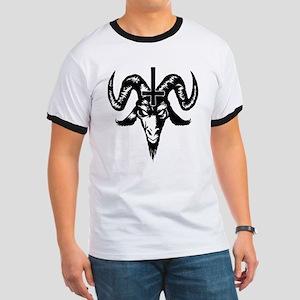 Satanic Goat Head with Cross T-Shirt