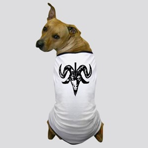 Satanic Goat Head with Cross Dog T-Shirt