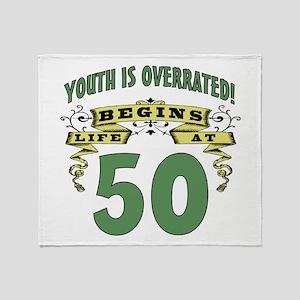 Life Begins At 50 Throw Blanket