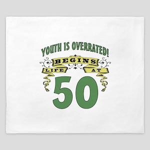 Life Begins At 50 King Duvet