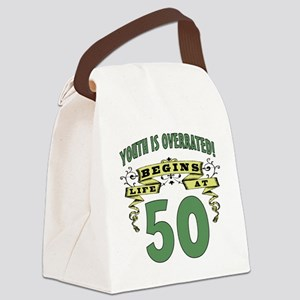 Life Begins At 50 Canvas Lunch Bag