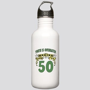 Life Begins At 50 Stainless Water Bottle 1.0L
