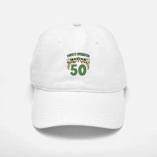 Life Begins At 50 Baseball Baseball Cap