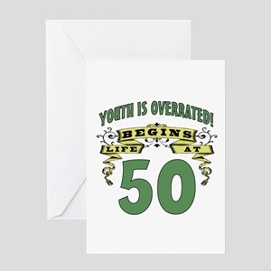Life Begins At 50 Greeting Card