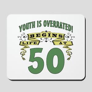 Life Begins At 50 Mousepad