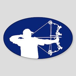 Bow Hunter (blue version) Sticker