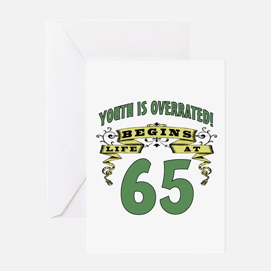 Life Begins At 65 Greeting Card