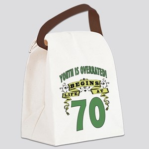 Life Begins At 70 Canvas Lunch Bag