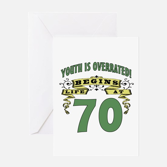 Life Begins At 70 Greeting Card