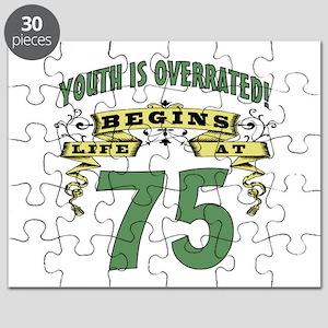 Life Begins At 75 Puzzle